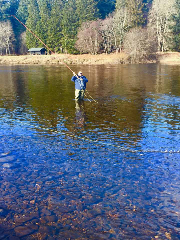 fly casting river spey