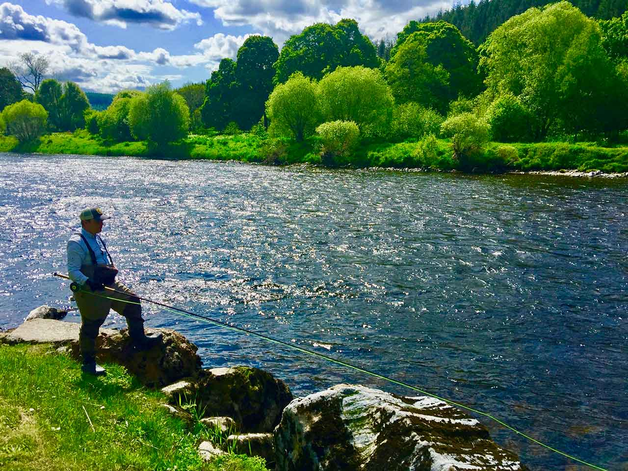 fly fishing salmon river spey