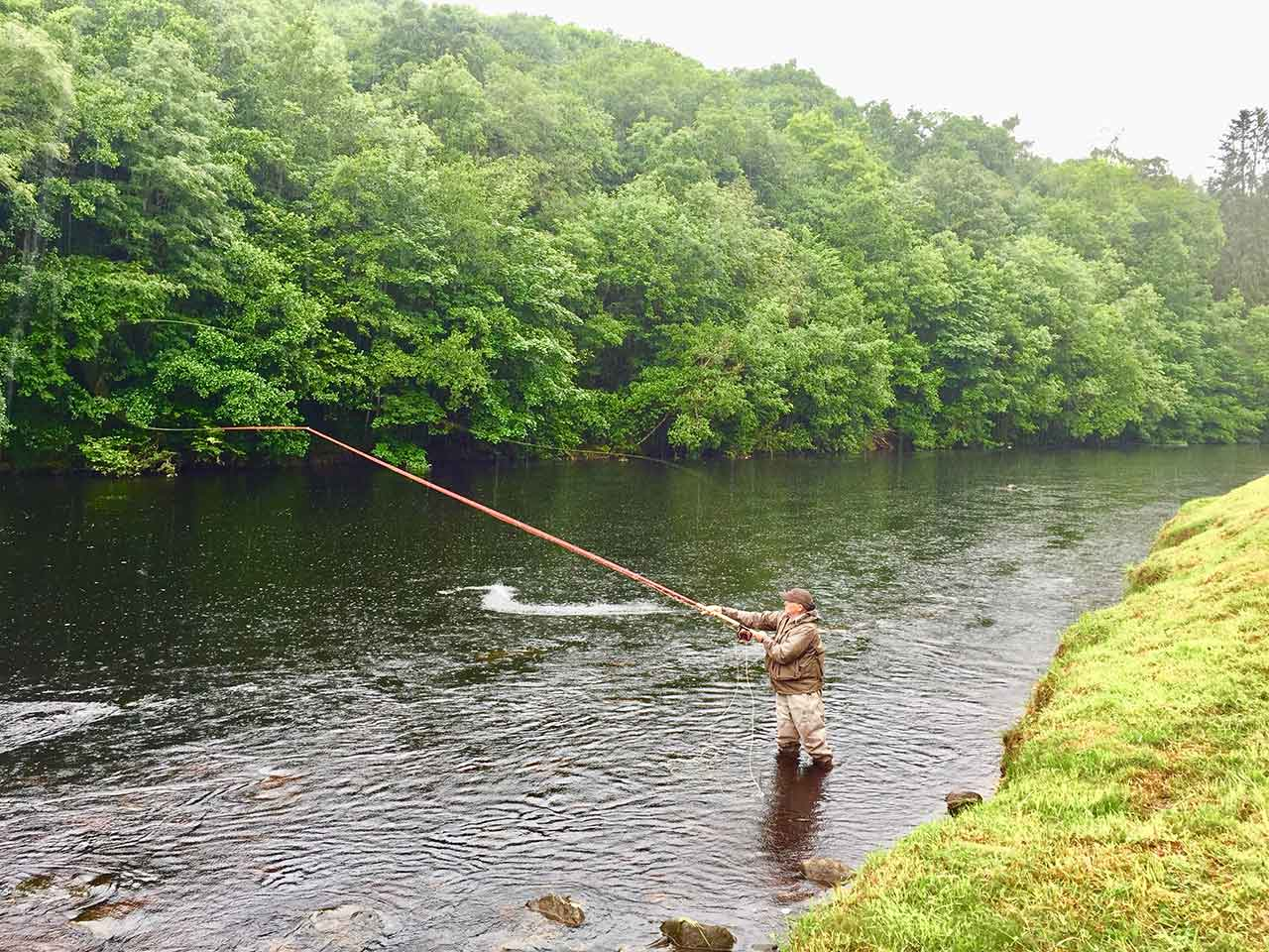 scottish salmon fishing ghillie